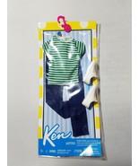 Ken Fashions Outfit Mattel Barbie NIB Casual Striped T-Shirt Jeans Shoes - $28.67