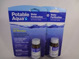 Potable Aqua Water Purification Ready in 35 minutes 2 PACK (50 Tablets e... - $21.78