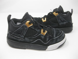[308500-032] AIR JORDAN IV 4 Royalty RETRO BLACK GOLD TODDLER Sz 10C - $32.99
