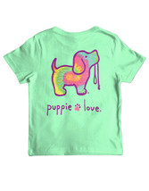 New PUPPIE LOVE MINTY RAINBOW  Pup  T SHIRT **YOUTH** - $23.99