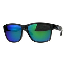 Polarized Lens Kush Sunglasses Gray Rectangular Plastic Frame Mirrored Lens - $11.65