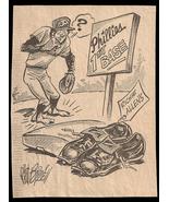 Richie Allen Phillies Sports Cartoon Newspaper Clipping Baseball Vintage... - $10.99