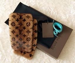 LOUIS VUITTON LV Echarpe Mink Fur Muffler Scarf Monogram 100% Auth Women Rare - $3,261.75