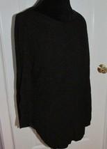 Women's Express Knit Black Hi Low 3/4 sleeve Sweater Size Medium - $27.71