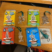 Cat In The Hat Dr Seuss Silver Plated Christmas Tree Ornaments Thing 1 2... - $14.84