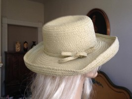 Betmar, New York, Beige, Wide Brim, Cowgirl, Fedora Hat with Beige Band ... - $17.80 CAD