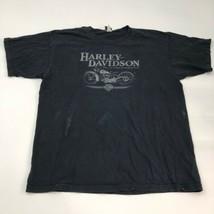 Harley-Davidson T-Shirt Mens 2X XX Black Short Sleeve Crew Neck Graphics... - $18.95