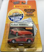 Matchbox Ferrari Testarossa Car And Driver Collector Cards NIP 1989 - $13.99