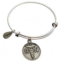 Bella Ryann RN Nurse Silver Charm Bangle Bracelet
