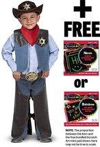 Cowboy:Costume Set + Free Melissa & Doug Scratch Art Pad Bundle [42734] - $34.40