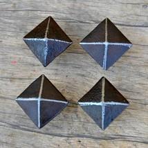Vintage Victorian Pyramid Cast Iron Door Cabinet Drawer Knobs Handles Ru... - $23.76