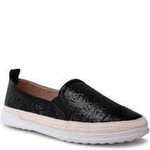 Wanted Women's Stars Glitter Fashion Espadrille Black Sneaker 9M - $39.99