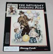 Balloon Man Saturday Evening Post Cross Stitch Pattern SEPL006 Stoney Creek - $8.86