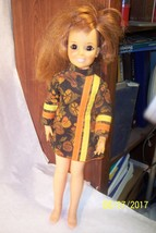 Vintage Ideal 1969 Crissy Doll Red Growing Hair Mod Dress Working Condition - $17.81