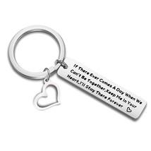 QIIER Long Distance Relationship Gift Leaving Keychain Boyfriend Gift Go... - $27.99