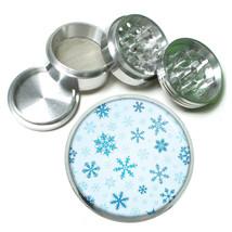 Popular Patterns Snowflake D9 63mm Aluminum Kitchen Grinder 4 Piece Herbs Spice - $13.81