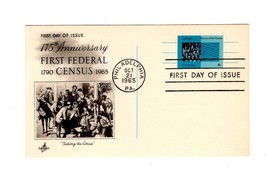 POSTCARD-FDC 175 ANNIVERSARY OF FIRST FEDERAL CENSUS-1965 ART CRAFT CACH... - $0.98