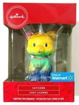 Hallmark Caticorn Cat Unicorn Christmas Ornament Rainbow Glitter Walmart... - $14.95