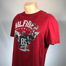 Tommy Hilfiger Womens M Shirt Short Sleeve Size Medium Red - $14.95