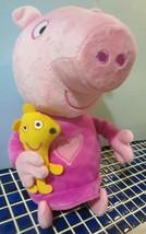 Peppa Pig Slumber N' Oink Bedtime Singing Talking Plush Doll Toy Works  - $18.95
