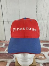New  Vintage Firestone Tire Snapback Hat Baseball Cap Red Blue One Size Red Blue - $24.19