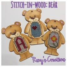 Bear Wooden Stitchable Kit cross stitch kit Romy's Creations  - $12.60