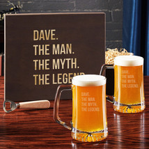 The Man The Myth The Legend Beer Glass Set with Gift Box - $129.95