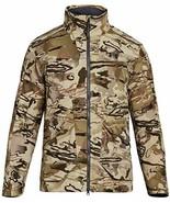 Mens Under Armour Jacket Large UA Barren Camo Scent Control Grit Fleece ... - $149.95