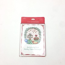 8 Vtg Hallmark Christmas Holiday Cookie Exchange Party Event Invitation Sealed - $14.95