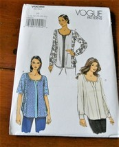 Vogue Pattern V9086 Top Loose Fit Tunic New Factory Folded * - $9.88