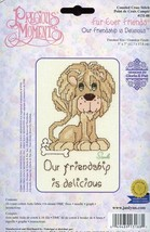 Our Friendship is Delicious Lion Precious Moments Cross Stitch Kit NEW - $5.37