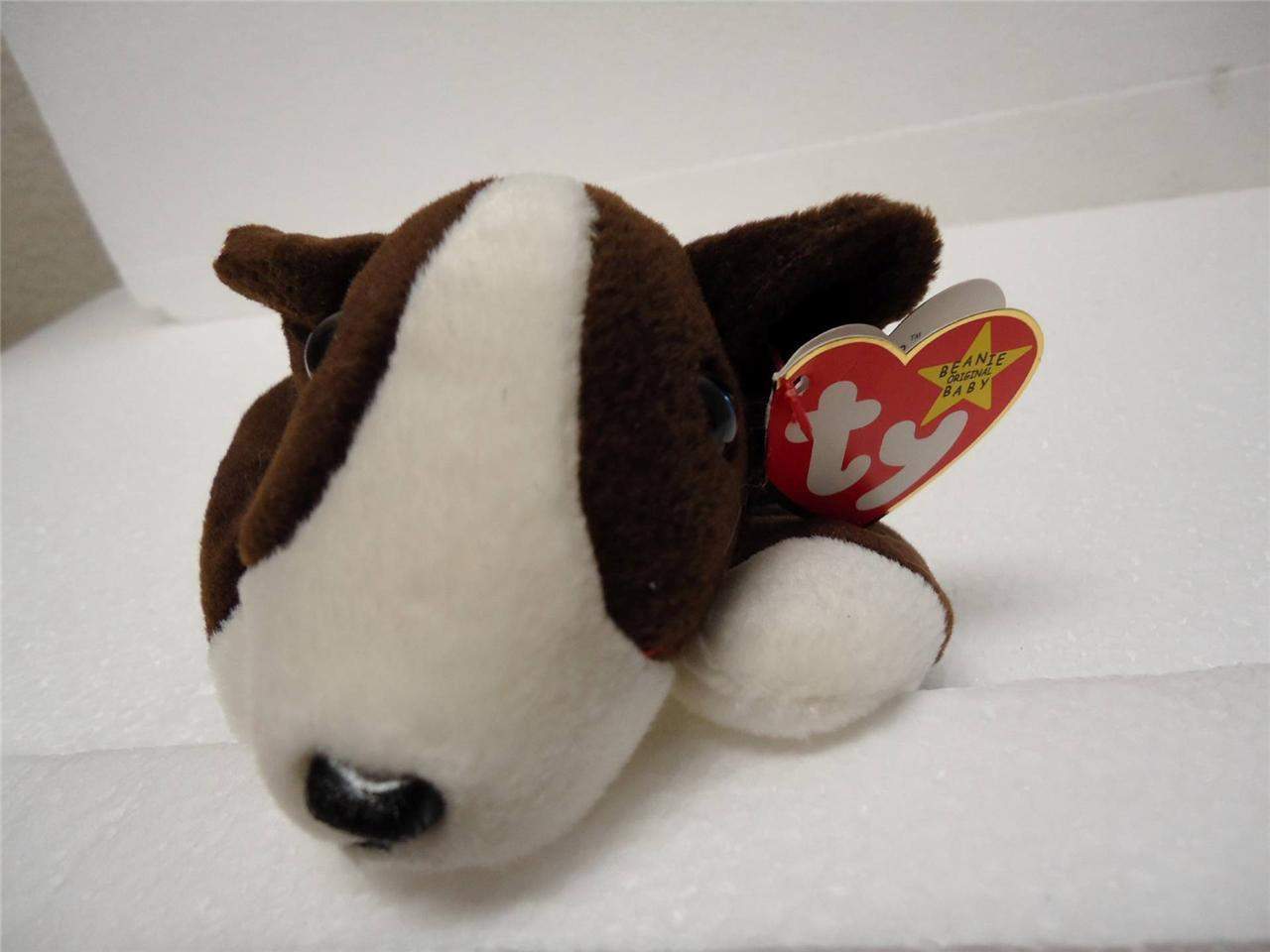 TY Beanie Baby Bruno The Dog 1997 with Tags