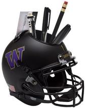 Washington Huskies (Black) NCAA Football Schutt Mini Helmet Desk Caddy - $21.95