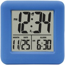 Equity by La Crosse 70905 Soft Cube LCD Alarm Clock (Blue) - $34.36