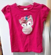 Gymboree Toddler Girls Pink Owl Top 2T  c - $9.89
