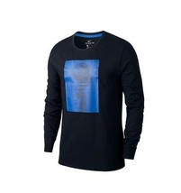 Nike Dry Men Basketball Ball Spin T-Shirt - Black/Game Royal Size L NEW with tag - $22.99
