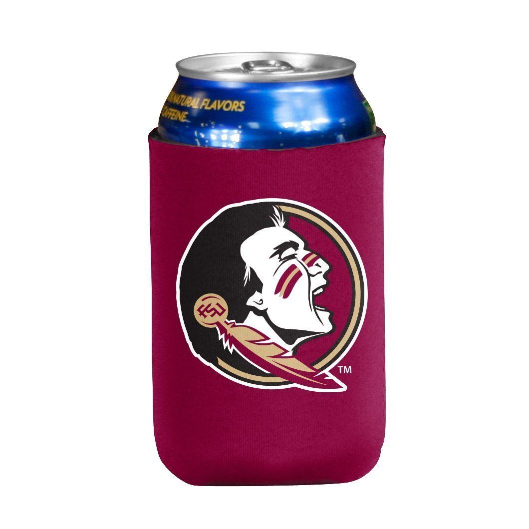 FLORIDA STATE SEMINOLES BEER SODA WATER CAN BOTTLE KOOZIE KADDY HOLDER NCAA