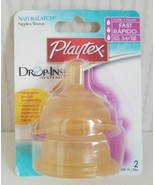 Playtex 3-6+ Months Naturalatch Fast Flow Latex Nipples Drop-Ins BPA-Fre... - $27.72