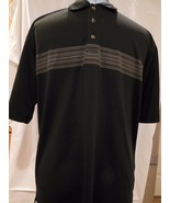 Pebble Beach Performance Men's Black  with Beige Golf Polo Shirt Size Large - $11.75