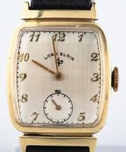 Lord Elgin Men's Vintage 14k Gold Wristwatch Le... - $890.99