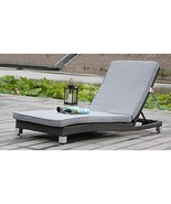 Modern Home Solana Woven Rattan Lounger - Brushed Gray - $127.71