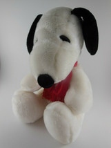 "Peanuts Snoopy Plush Animal Toy United Features smoke free 11"" sitting - $10.39"