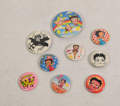 Vintage Betty Boop Pins 1970's 8 Lot - $39.60