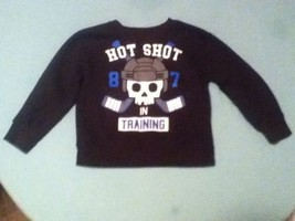 Boys-Size 3T-Garanimals sweater-Hockey skeleton black long sleeve - $8.25