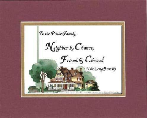 Primary image for GoodOldSaying - Personalized Plaque for Home - Neigbor By Chance, Friend by Choi