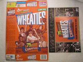 MT WHEATIES Cereal Box & Calendar 1998 18oz 75 YEARS OF CHAMPIONS [G7E1b] - $9.57