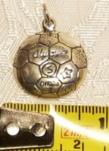 Sterling Silver 18mm Rounded detailed Soccer Ball Charm image 2