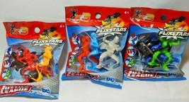 Justice League Flixstars 3 PACK LOT Batman Superman Wonder Woman Flash - $9.77