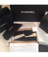 Authentic BNIB Chanel Espadrille Black Leather 39 - $871.10