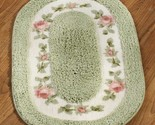 Floral inset bath rug green thumb155 crop
